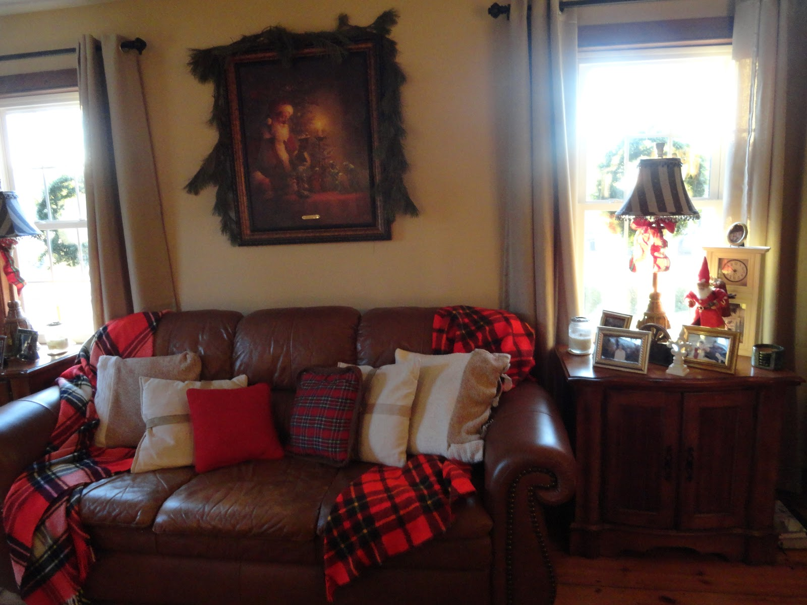 The Long Awaited Home  LIVING ROOM CABIN STYLE I found the red plaid blankets at an. Cabin Style Living Room. Home Design Ideas