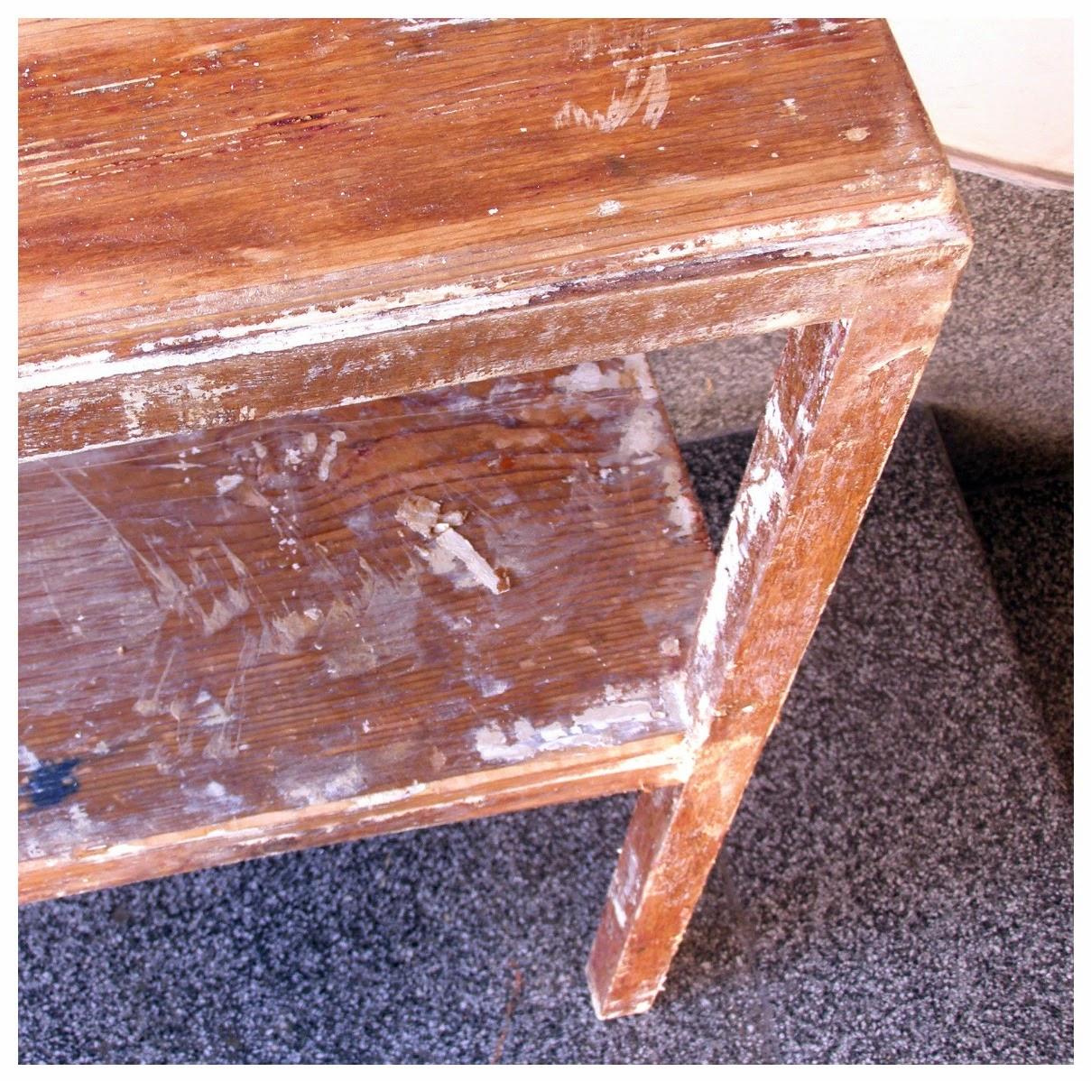 Renoviranje stolića, dio I: Sredstvo za skidanje boje sa drveta  Ceker arhiva