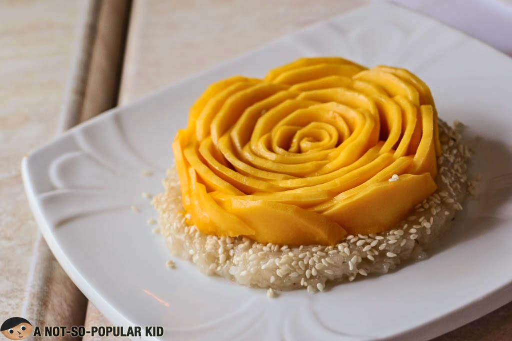 Thai Sticky Rice with Floral Mango on Top - Just Thai
