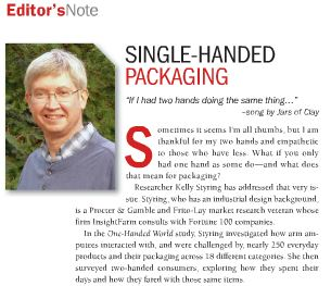 Features the One Handed World study by Kelley Styring of InsightFarm