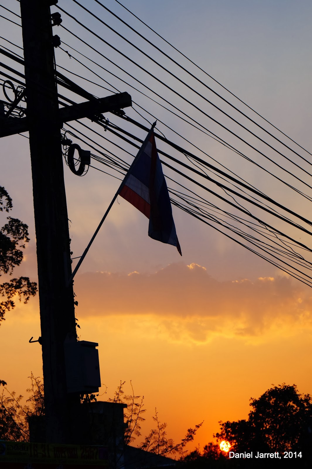 Chiang Rai Sunset Flag