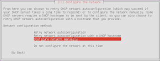 Configure network manually