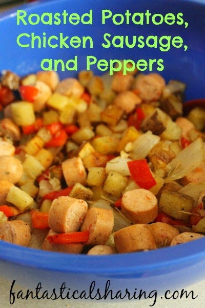 Roasted Potatoes, Chicken Sausage, and Peppers | An easy, no-fuss hash ...