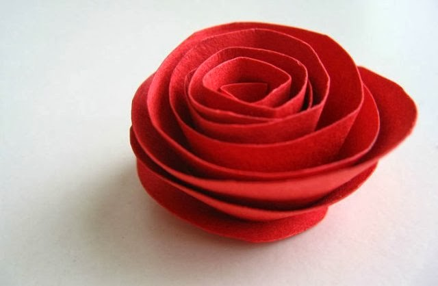 Rose out of paper.