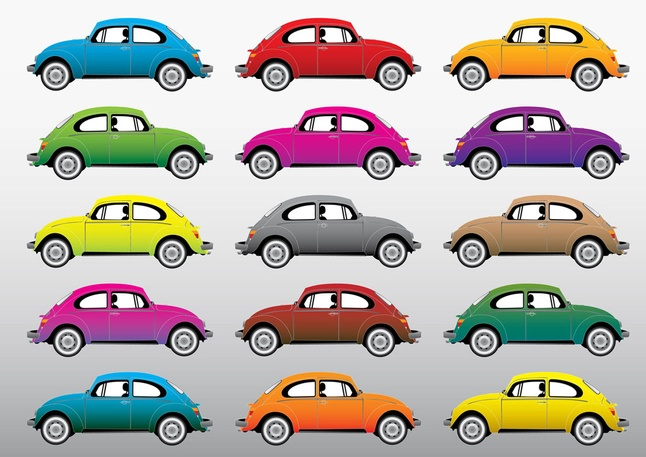 Beetle Cars Vector Graphics