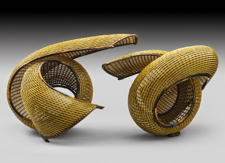 contemporary woven bamboo crafts