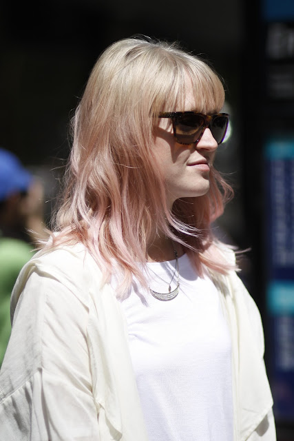 Jacklyn Borth Pink hair seattle street style
