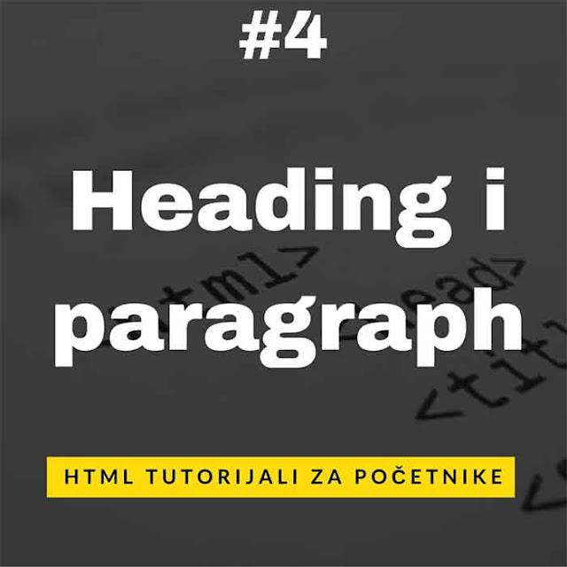 HTML tutorijali za početnike