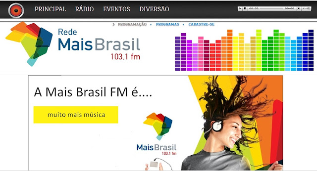 Site da Rádio Mais FM 103,1 do Gama