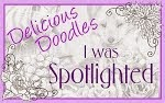 I was Spotlighted at Delicious Doodles - February 2014