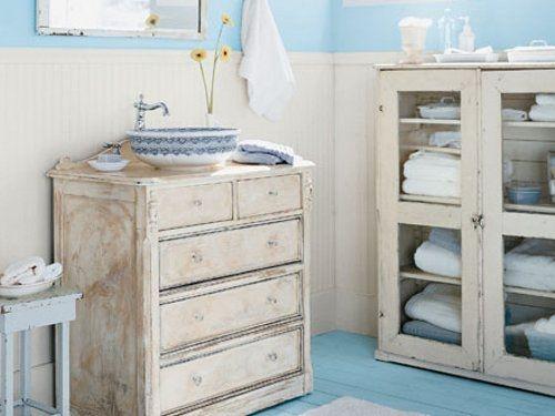 Imagenes muebles rusticos for Decorar bano antiguo