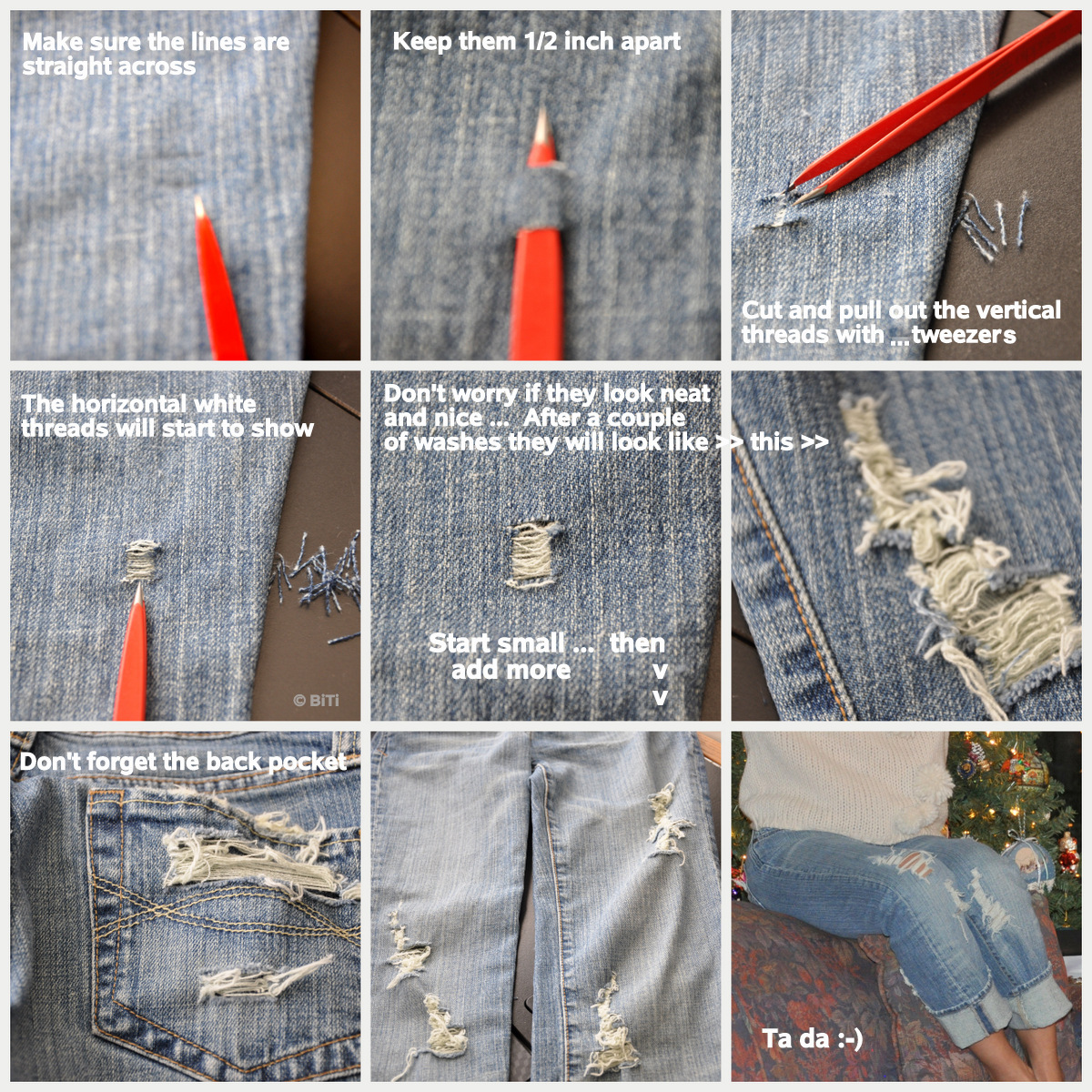 How Make Ripped Jeans