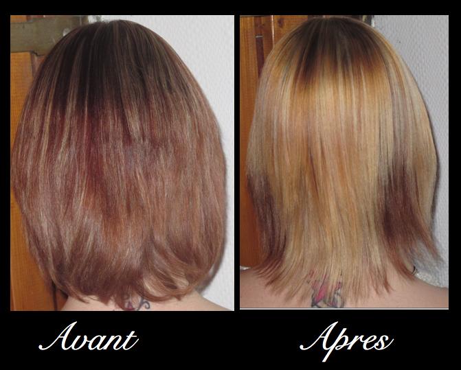 a ma fait une coloration et non des mches enfin brefcest vraiment horrible quoi 1ere fois de ma vie que je suis dchue dun produit garnier - Gele Claircissante Garnier Sur Cheveux Colors