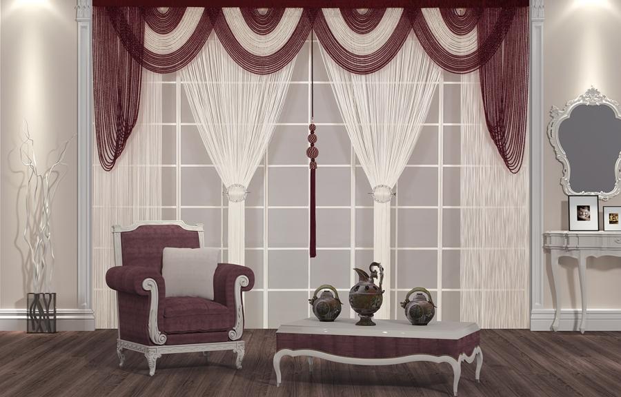 p fon perde modelleri elif perde. Black Bedroom Furniture Sets. Home Design Ideas