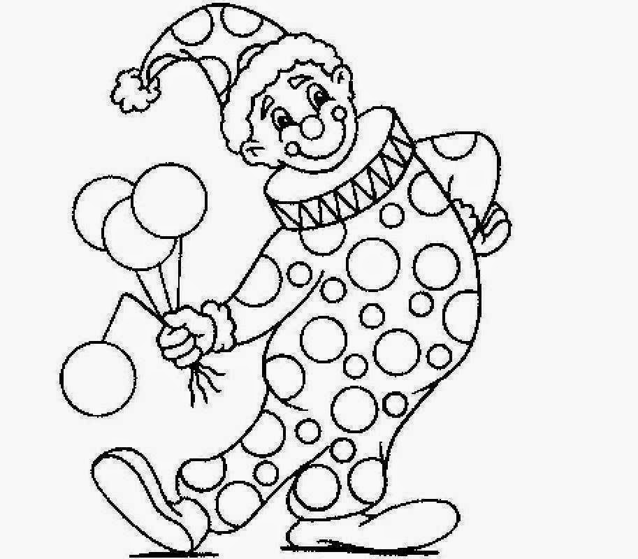 Beautiful Clown Coloring Drawing Free wallpaper
