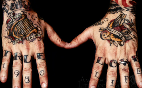 Knuckle tattoos3d tattoos for Knuckle tattoo font