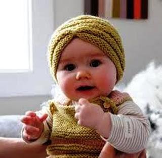 Contoh Model Turban Bayi Lucu Terbaru