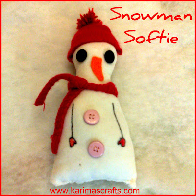 snowman crafts sewing