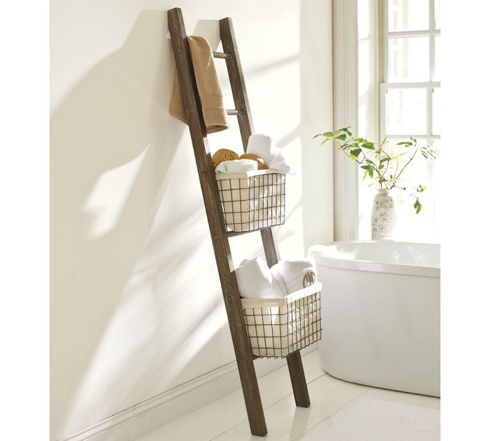 our hopeful home diy pottery barn bath storage ladder
