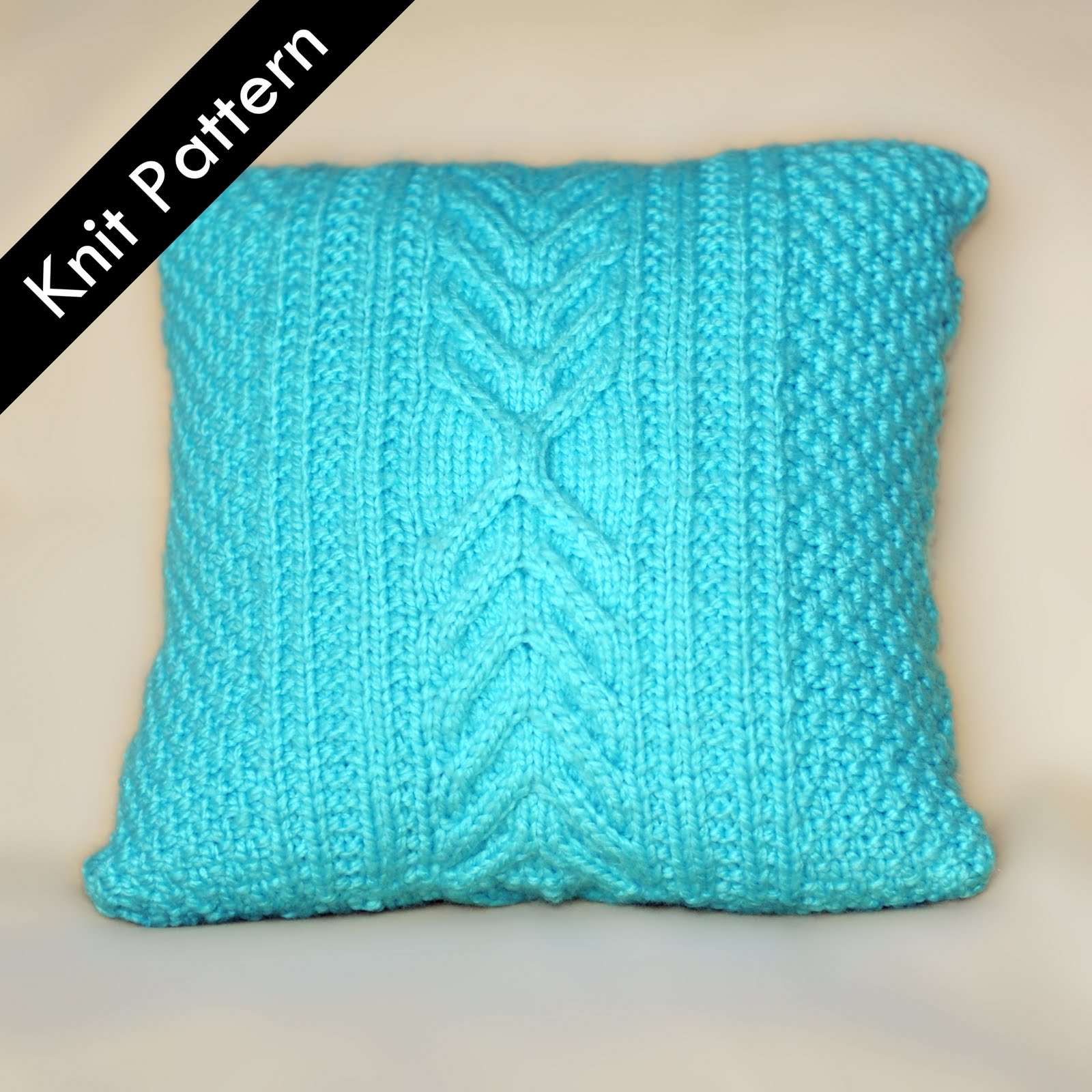 Cable Knit Pillow Pattern Free : Knit Pillow Patterns - Pattern Collections