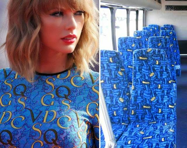 Taylor Swift and bus seats