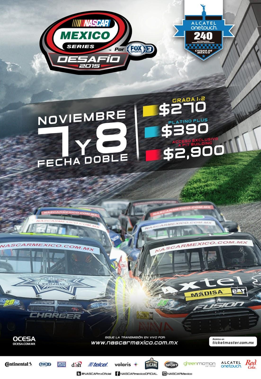 Unileventv nascar llega con jornada doble de la serie al for Puerta 2 autodromo hermanos rodriguez