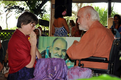 Radha Fournier and Ram Dass, Maui, 2010