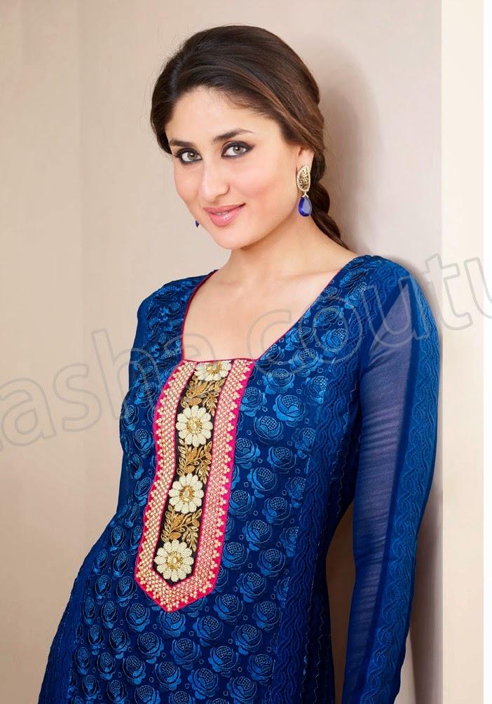KareenaKapoorSemiGeorgetteSalwarSuits2014 15 wwwfashionhuntworldblogspotcom 009 - Kareena Kapoor Semi Georgette Salwar Suits 2014-2015