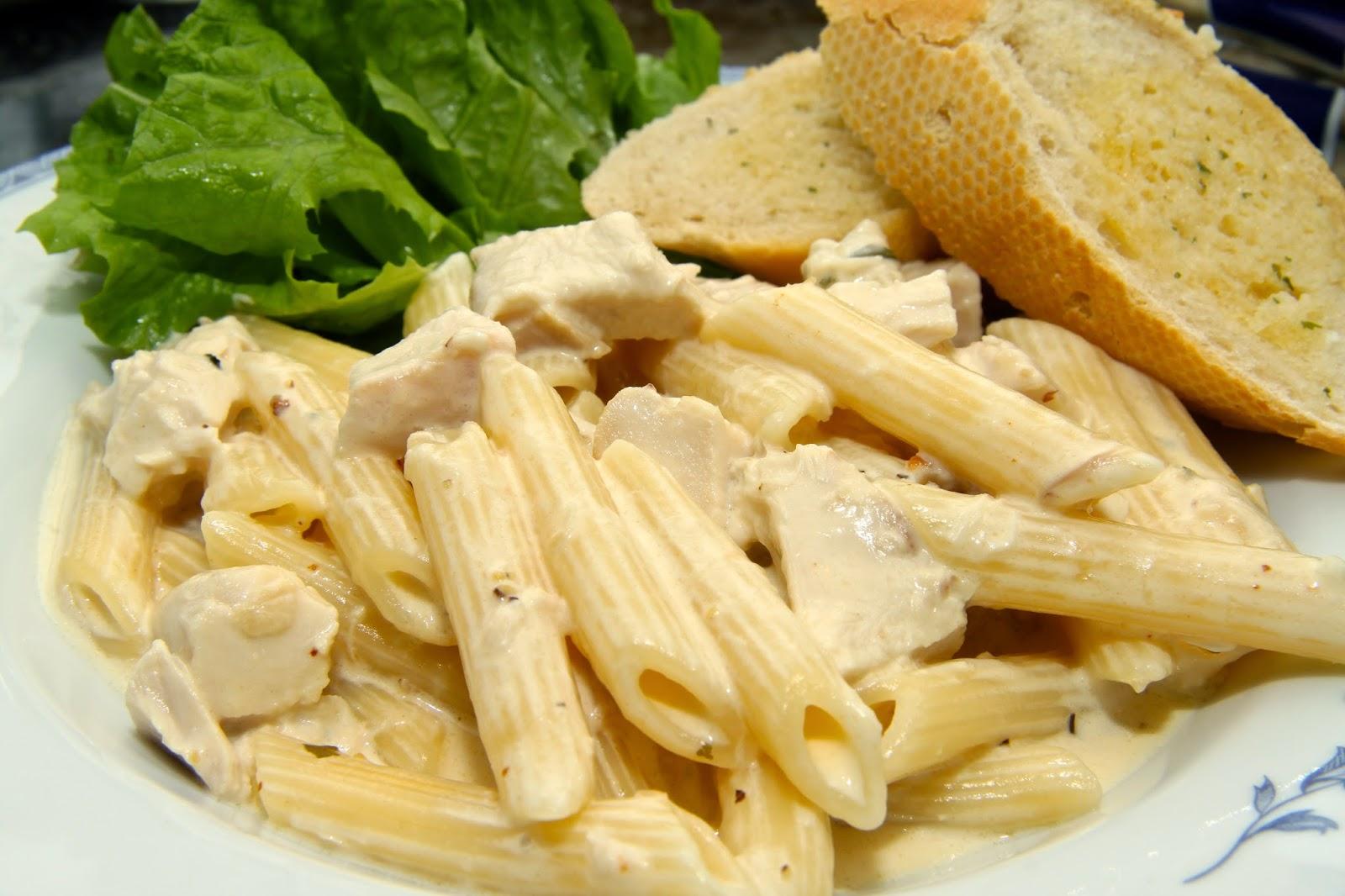 receta para hacer penne en salsa blanca