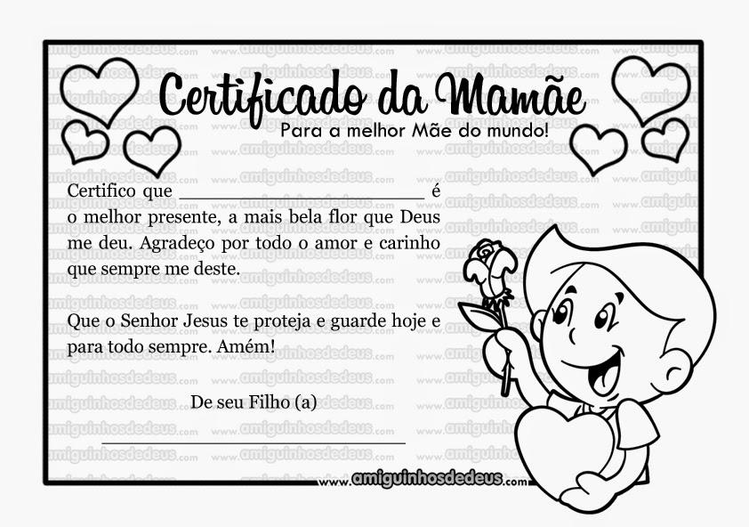 certificado da mamãe