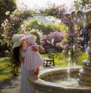mujeres-en-el-jardin-con-ninas
