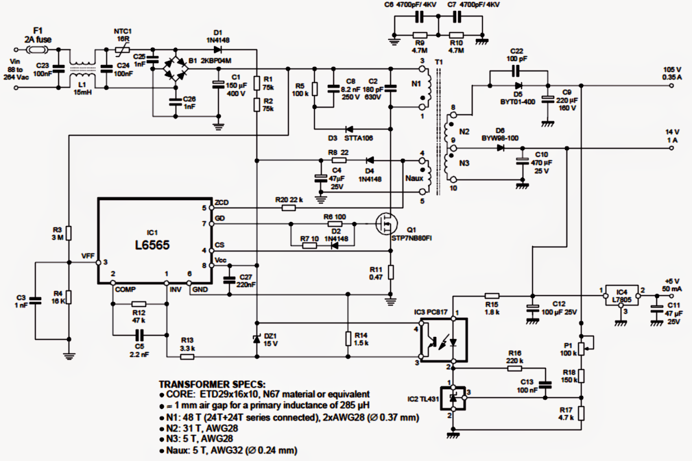 50 watt led driver circuit