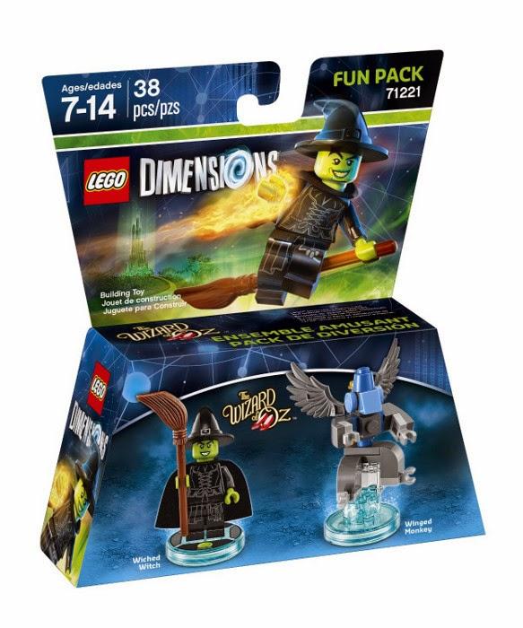 TOYS - LEGO Dimensions : Wizard Of Oz  71221 - Fun Pack : Wicked Witch & Winged Monkey   Figura - Muñeco | El Mago de Oz | La Bruja Malvada & Mono Alado  [27 septiembre 2015] | Juguetes & Videojuegos  Piezas: 38 | Edad: 7-14 años