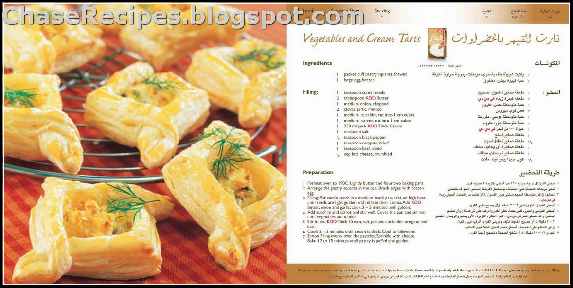 Vegetables and cream tarts recipe in english and arabic chase recipes vegetables and cream tarts recipe in english and arabic forumfinder Choice Image