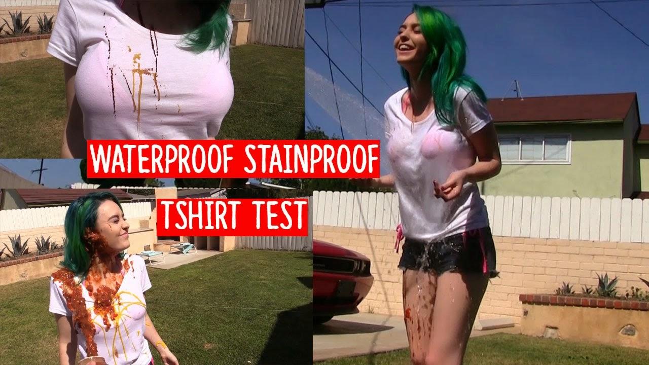 澳洲品牌Threadsmiths防水T-Shirt竟然用這種方式測試防水能力?眼睛都不知道該看哪裡!