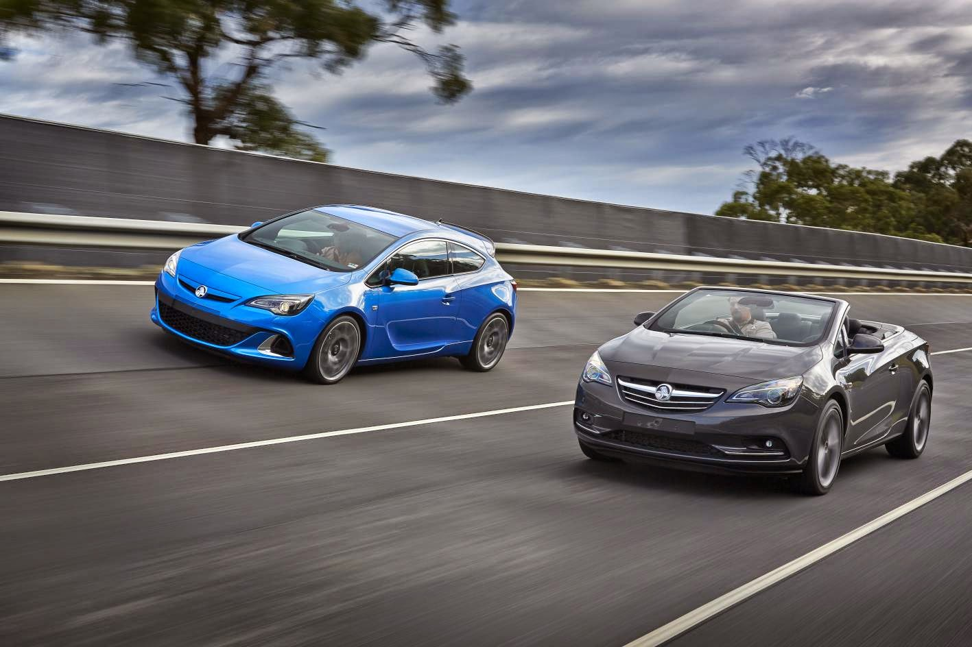 New Holden Astra VXR and Cascada rolling shot