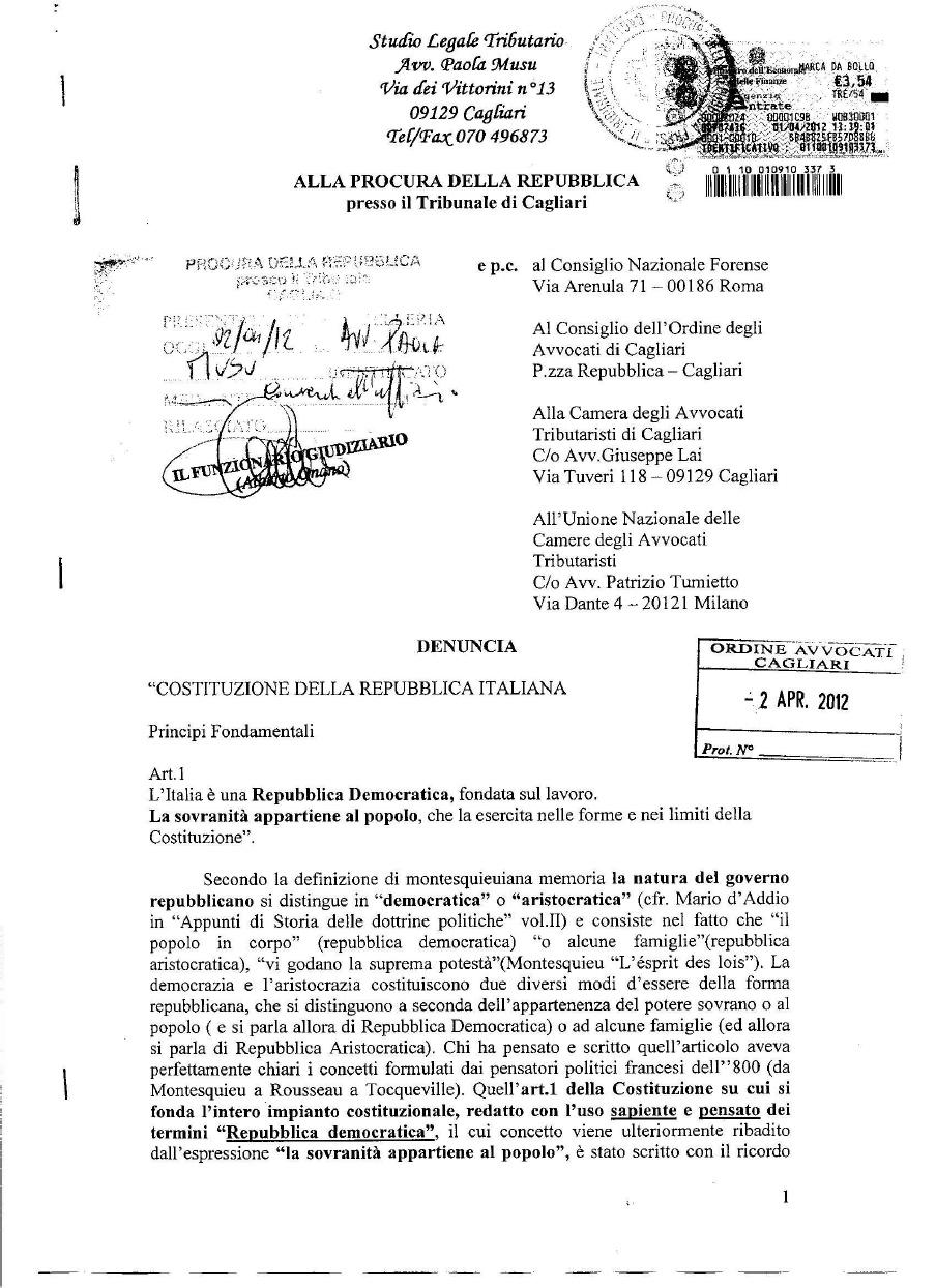 Perchiunquehacompreso denuncia contro presidente della for Quanti sono i membri del parlamento italiano