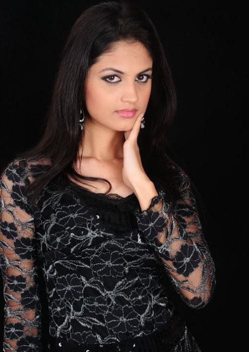 madhulika in black dress hot photoshoot