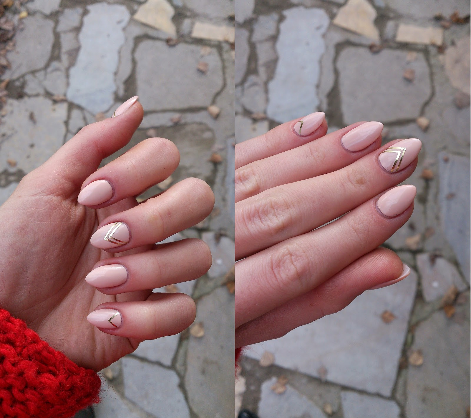 beżowy manicure
