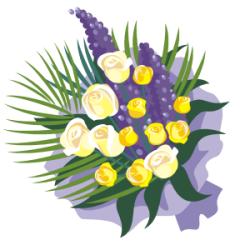 bouquet de fleurs (dessin)