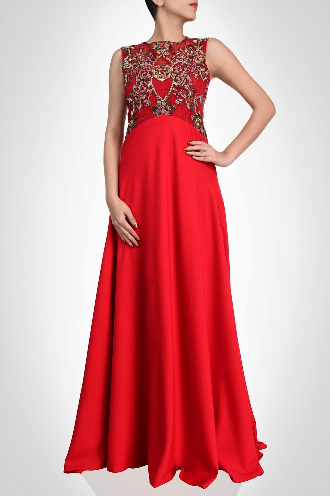 New Collection Of Designers Indian Style Maxi Dresses 2014 Latest Fashion