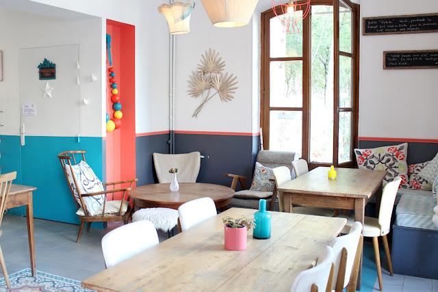 salle à manger colorée