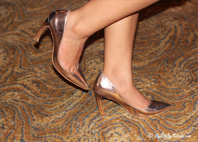 Golden Pointed heels