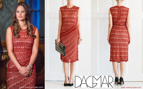 Princess Sofia Hellqvist wore Dagmar Eleonora Knitted Lace Dress.