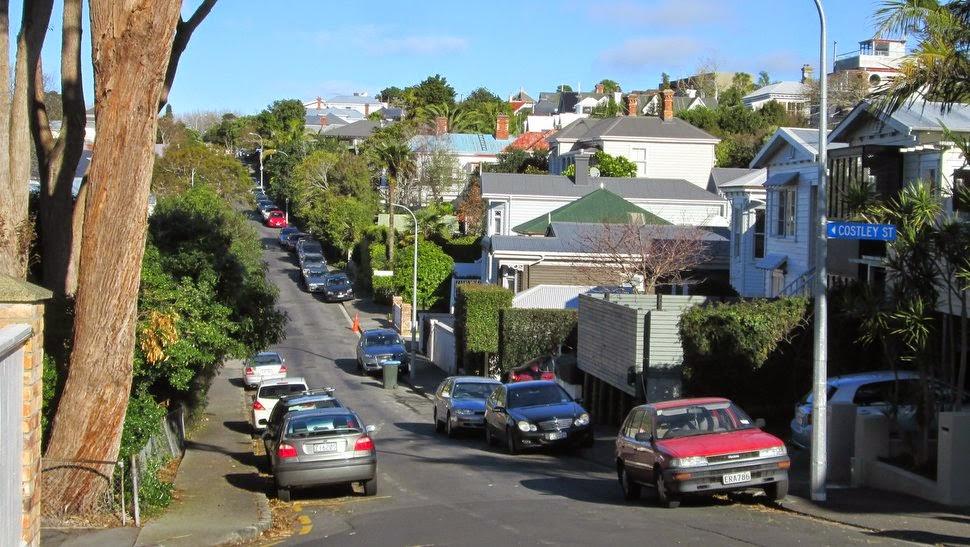 Quartier residentiel ouest à Auckland - Ponsonby