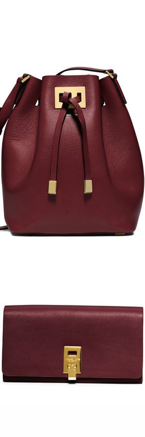 Michael Kors Miranda Medium Drawstring Messenger Bag, Claret