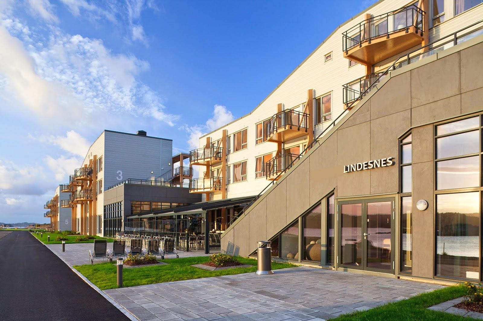 Lindesnes Havhotell ligger i sjønære omgivelser på Lindesnes.