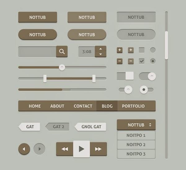 Pillow UI Kit PSD