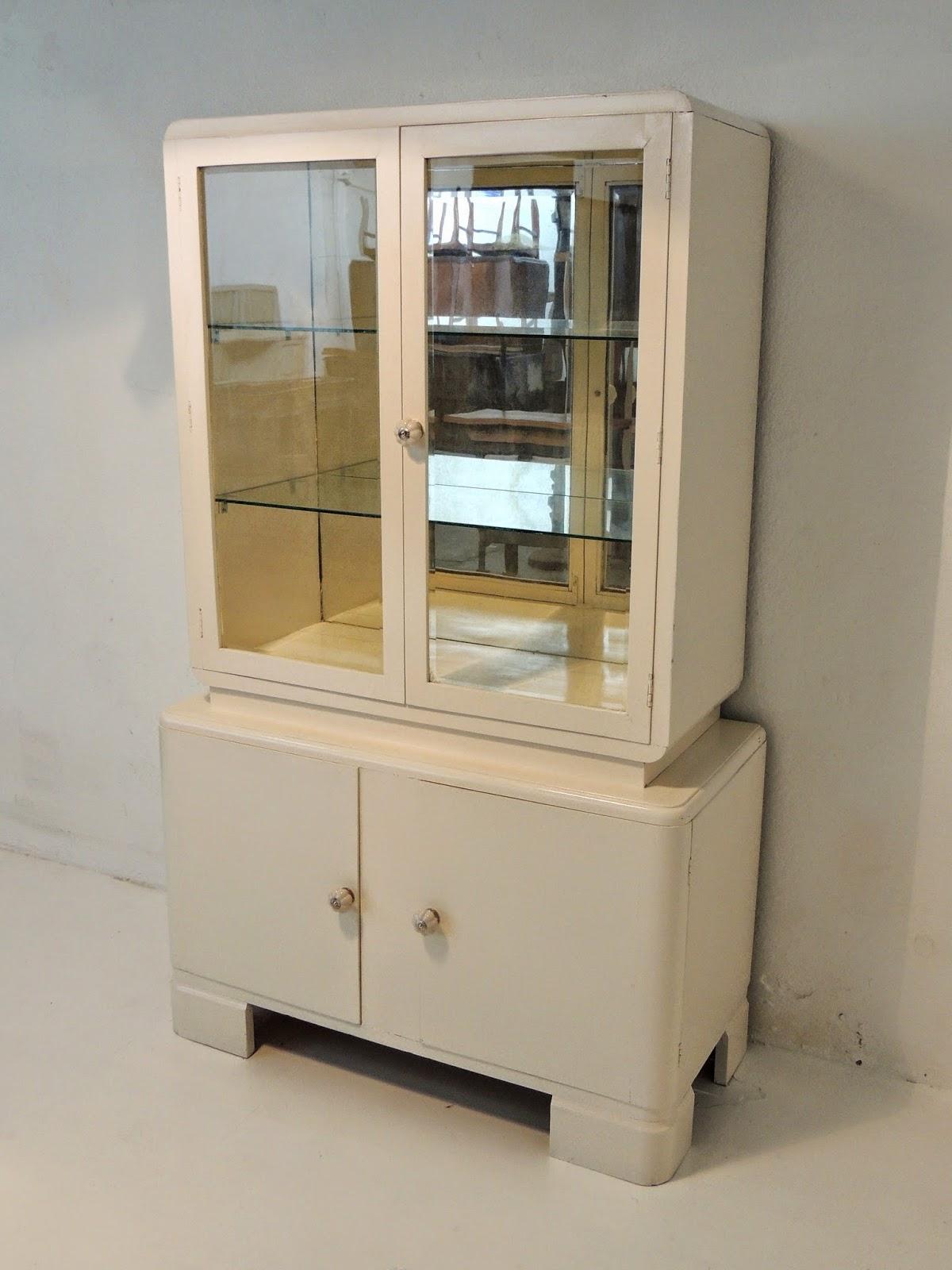 Antiguo bargue o aparador vitrina art deco en blanco valiente pepe - Aparador art deco ...