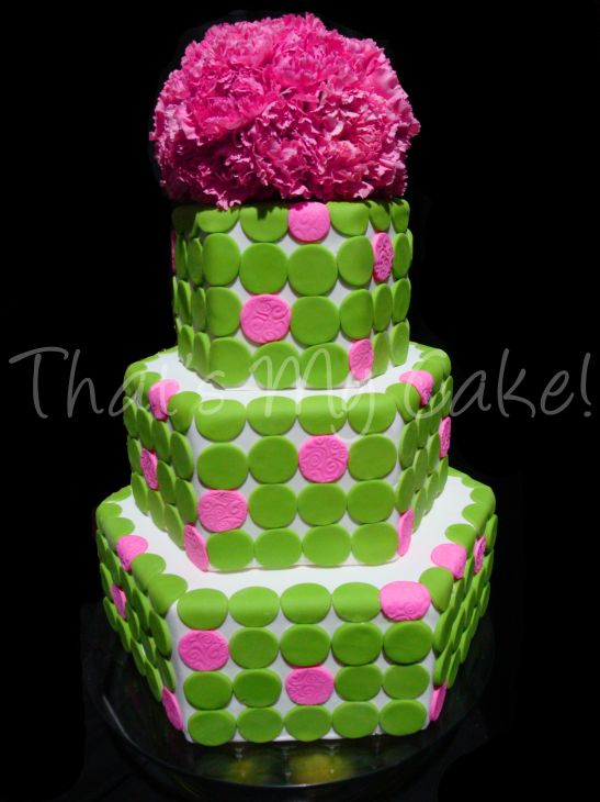Wedding Cakes Pictures: Pink and Green Wedding Cakes